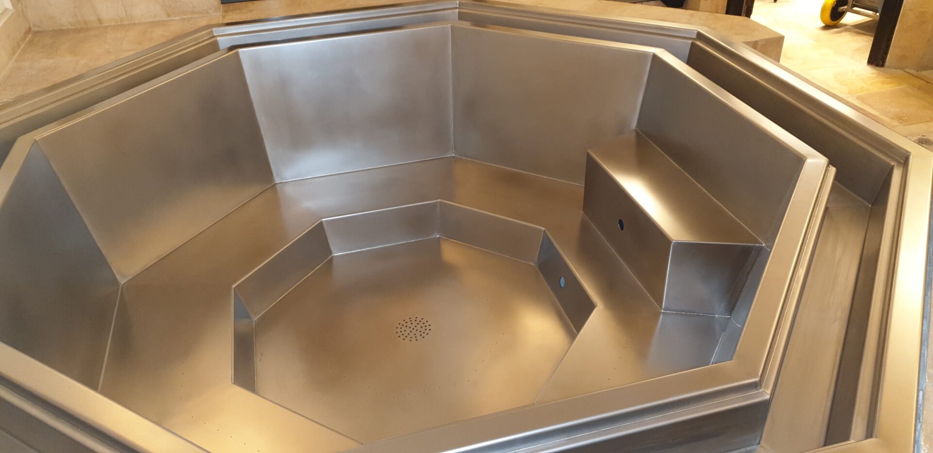 Een spa van rvs